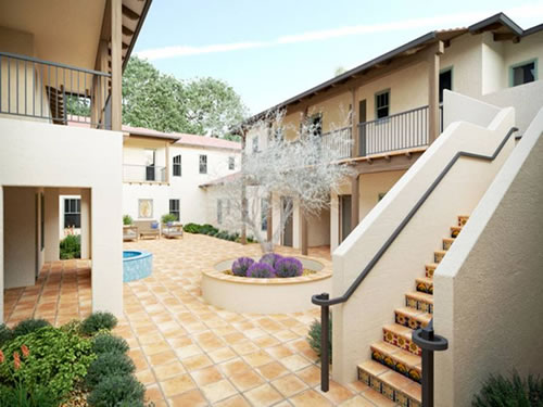 Chico courtyard apartments